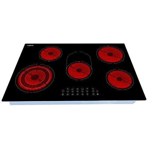 Viesta C5Z Plaque de cuisson vitroceramique, Table Vitrocéramique 5 feux