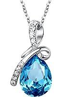 Altezza pendant = 3,2 cm, larghezza pendente = 1,6 cm. Altezza cristallo = 1,9 centimetri. L'oggetto sarà spedito in una scatola di gioielli libero, rendendo più facile per voi per sorprendere la vostra persona speciale.