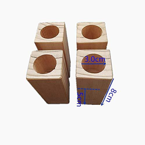 Bett Erhöhung Echt Holz Möbelerhöher Betterhöher Möbelerhöher Betterhöhung Möbelerhöhung Tischerhöher Elefantenfuß Bed Riser 4 Stück