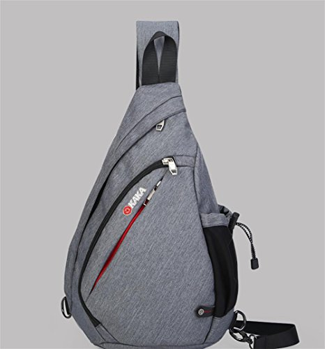 ROBAG Neue große Kapazität Brust Pack männlichen koreanische Version des Outdoor-Tropfen Pakete Erhöhung der Tasche Schultertasche Funktionstextilie gray increase
