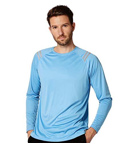 Ogeenier Herren Sonnenschutz T-Shirt, Laufen UV UPF50 + Kapuzen Sonnenschutz Athletic Surfing Tourism Camping Walking Langarm Shirt
