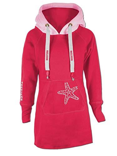 SEESTERN Kinder Langes Kapuzen Sweat Shirt Pullover Hoody Sweater Gr.116-164 /FBA 1805.rd_pk Rot 140