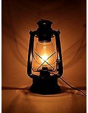 Interio Crafts Metal Hanging Electric Lantern (Black_32 x 18 cm)