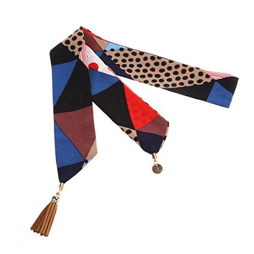 Tinksky Skinny Schal-langer Chiffon- Krawatte Schal-Bindung Schärpe-Bindung Kopfschmucksommer-Schal