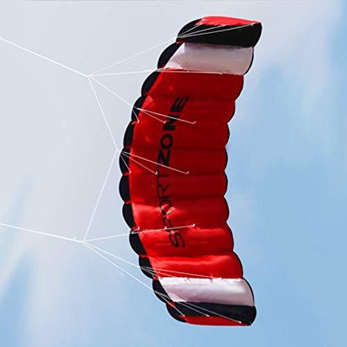 JohnJohnsen 1,8 m de línea Doble Kitesurf paracaídas Suave Parafoil Vela Kite Surf de Cometas Grande Enorme Actividad al Aire Libre Vuelo de la Playa Kite (Negro)