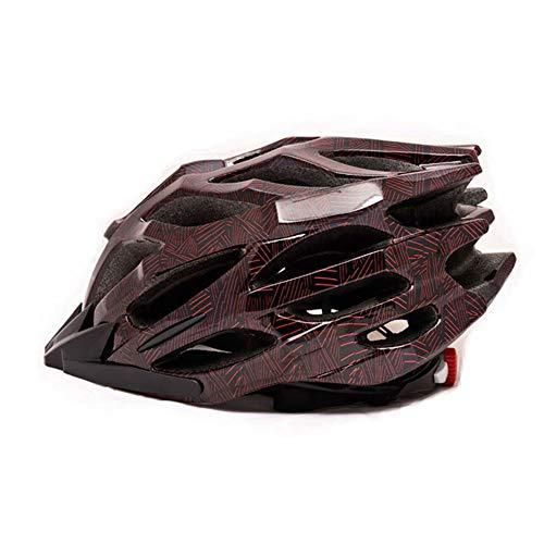 WWJIE (Rote Spinne) Fahrrad Fahrradhelm 54-62cm Leichter Rennradhelm für Herren Damen-M/55-58cm