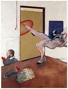 Francis Bacon, titulo: Peintures sur 1978(1978), lithographie de moderne tecnique, 38x 28Cmts Presse 31x 23Cmts. Papier BFK France (filigrane) Edition 100numered Crayon Signé pr.???/100