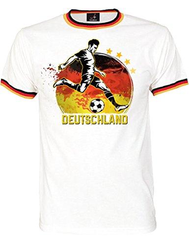 Shirtoo Fan-T-Shirt WM 2018 - Trikot mit Deutschland-Fußball-Motiv für Herren und Damen in Größe XL