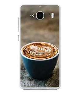 Fuson Designer Back Case Cover for Xiaomi Redmi 2 :: Xiaomi Redmi 2S :: Xiaomi Redmi 2 Prime (Tea time Capuccino Coffee break Leaf)