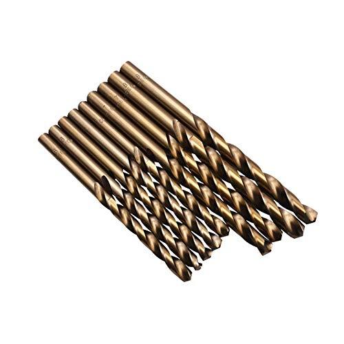 creatspaceES Universal 74PCS / Set HSS Herramienta eléctrica para metalurgia Broca helicoidal de Acero de Alta Velocidad Profesional Herramienta Duradera Color: Dorado