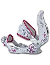 Firefly Spheric - Snowboard para mujer, incluye fijaciones soft A5 Flare Talla:Bindung