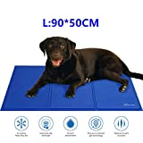 Lauva Dog Summer Bed, Dogs Self-Cooling Cool Mat Non-Toxic Gel Pads Ice Mat for People Dogs Puppy Cats, Pets Kennel Crates Sleeping Mattress Cushions Large for Home Travel & Cars-36