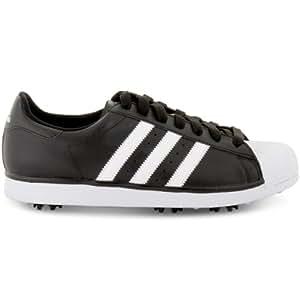 2014 Adidas Golf Sport Mens Superstar Golf Shoes Black/White 8UK