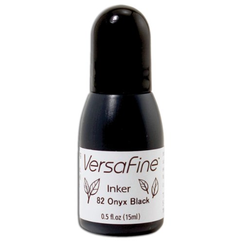 Imagine Crafts Tinte Versafine Pigment Inker-Onyx schwarz - Pigment Tinte Schwarz Refill