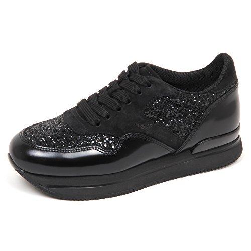 Hogan E4314 Sneaker Donna Nero H222 Scarpe Glitter Shoe Woman  36  17f88459211