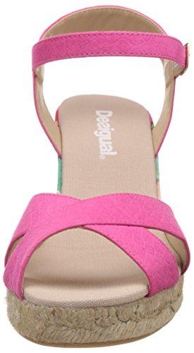 Desigual Bahia, Ballerine Donna Rosa (Pink - Rose (3167 Fandango Pink))