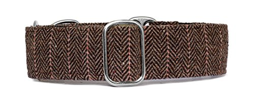 noddy-and-sweets-collier-martingale-38-cm-largeur-en-tweed-a-chevrons-bb