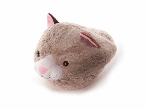 Preisvergleich Produktbild Inware 6796 - Fußwärmer Katze, beige/grau