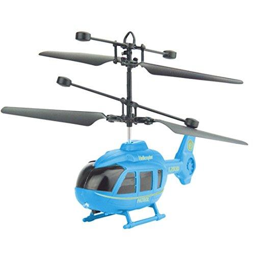 QUINTRA Fliegen-Mini-RC Infrarotinduktions-Hubschrauber-Flugzeug-Blinklicht spielt für Kind