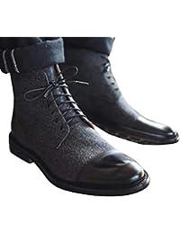 Minetom Uomo Moderno Derby Scarpe in Pelle per Business Ricreazione Sera  Vintage Basse Caviglia Stivali Stringate fa7fc71451d