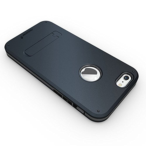 """iPhone 6 Hülle, Pasonomi® [TOUGH ARMOR] Stoßfest Tropfen Proof Heavy Duty Gürtelclip Shell Holster 3 in 1 Combo Handyhülle für Apple iPhone 6 4.7"""" mit Ständer Etui Schutz Harten Rückseite Kunststoff - Dunkel Blau"""