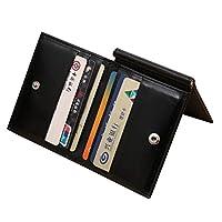 محفظة رجالية متعددة الجيوب للكروت و الهويات مع كلبس ستانلس للنقود