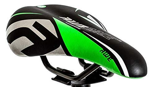 AWE® Junior MTB Jungen Sattel grün schwarz -
