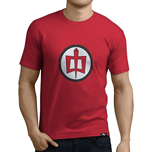 Tuning Camisetas - Camiseta Divertida para Hombre - Modelo Granheroeamericano, Color Rojo- Talla L 0003-Rojo-Gran-heroe-americano-L...