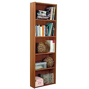 VALENTINI - Libreria a cinque vani in noce madera 9542007 L55h174p21cm