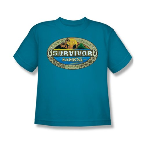 Cbs - Survivor / Samoa Logo Youth T-Shirt in türkis, Large (14-16), Turquoise