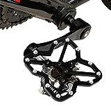Songlin@yuan Rennrad universal Klickpedal Plattform Adapter Fahrrad Mountainbike Schuhe, Größe: 90 * 85mm Sicherheit (Farbe : Schwarz)