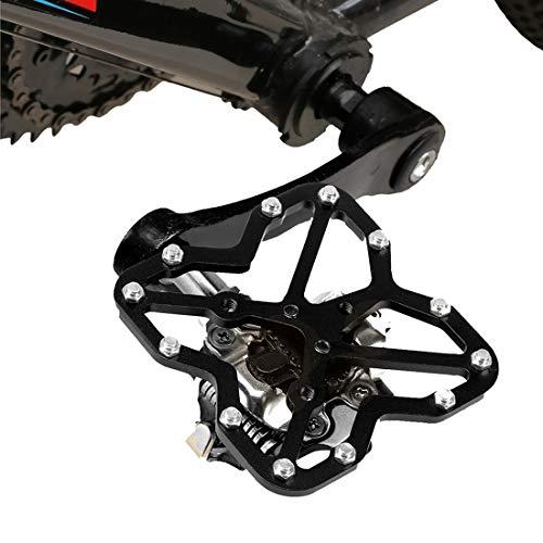Lanbinxiang@ Adaptateur de Plate-Forme de pédale de vélo de Montagne Universel pour vélo de Route, Taille: 75 * 65mm sécurité (Couleur : Noir)