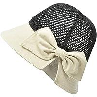 Sombrero Sombrero Cuenca del nuevo verano de las señoras al aire libre del nudo del arco hueco Protector solar Sombrero de la playa del sombrero del sol del sombrero del pescador sombrero de paja