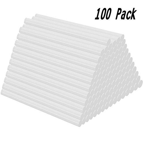 Heiße Schmelze Klebepistole Sticks 100 Stück Klebesticks Alle Temperatur Clear Heißkleber, 7x100 mm