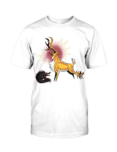 Wild T-Shirt Tee Neu Casual Comic Deer Hirsch Natural Wiesn Oktoberfest (Old Superheld Kostüme School)