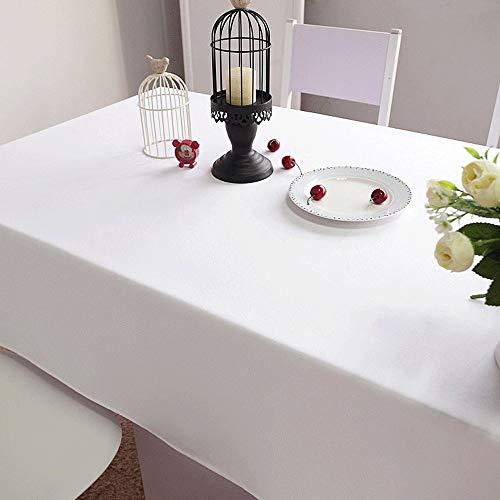 Huifang solido tovaglie rettangolari e tovaglie di lino polietilene senza soluzione di continuità ristorante per banchetti, catering, feste di compleanno, matrimoni, 78.7x102.4 pollici (200x260) cm a
