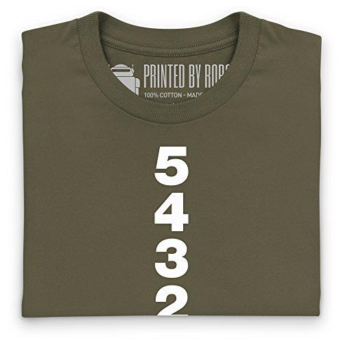 Five Gears T-Shirt, Herren Olivgrn