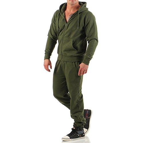 Hype Inc Herren Jogging Anzug Trainingsanzug Sweatshirt Hose Sportanzug (XL, (Anzug Grünen Herren)