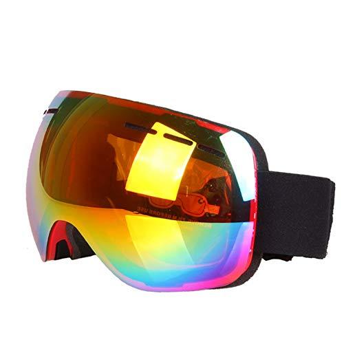 Road&Cool Skibrille Sonnenbrille Maske Winter Frauen Outdoor Winddicht Herren Anti-UV-Staub Snowboard Sport Langlauf Bergsteigen (18 * 9 cm)