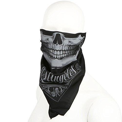 x LA Raider Bandit Bandana Black Gray (Raiders Bandana)