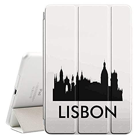 STPlus Lisbon, Portugal City Skyline Silhouette Postcard Smart Cover With
