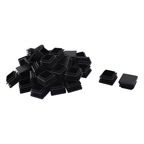 Dealmux Plastique Pieds de meubles Protection de tube carré inserts Caps 32 mm x 32 mm 40 pcs Noir