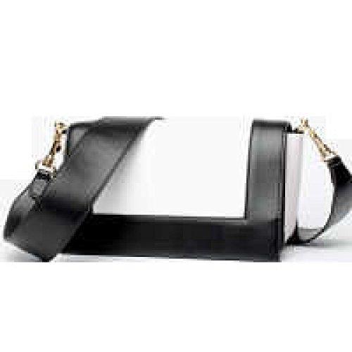 PACK Hit Farbe Kleine Quadratische Tasche Schulter Diagonale Kreuz Packet Leder Handtaschen,E:GreenWithBlue D:BlackWithWhite