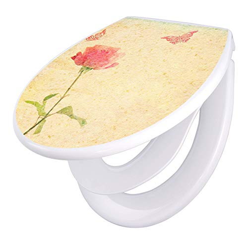 banjado Familien WC Sitz mit Absenkautomatik | Toilettendeckel mit Kindersitz | Klodeckel weiß |...