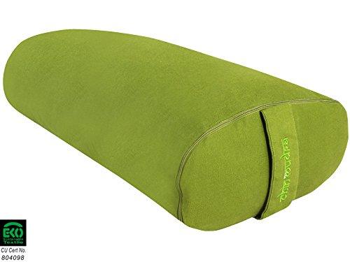 Bolster de yoga Ovale 100 % Coton Bio 60 cm x 15 cm x 30 cm - Vert
