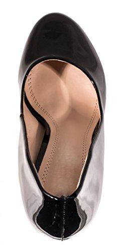 Elara Plate-forme Pompes   Hauts talons de femmes modernes   Chaussures Stile Schwarz