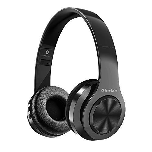 GIARIDE Cuffie Bluetooth con cancellazione del Rumore Cuffie Stereo Senza Fili con Ingresso per schede TF, Linea ausiliaria, Microfono Incorporato per PC, telefoni cellulari, TV