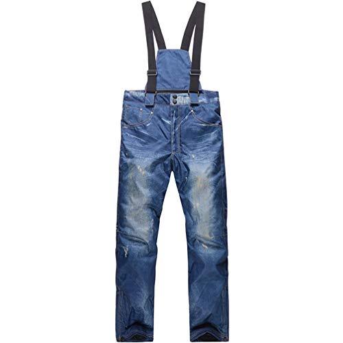 SHUIBIAN Pantaloni da Sci Sportivi da Uomo Pantaloni da Sci Pantaloni Impermeabili Traspiranti da Uomo Casual Bretelle Invernali all'aperto