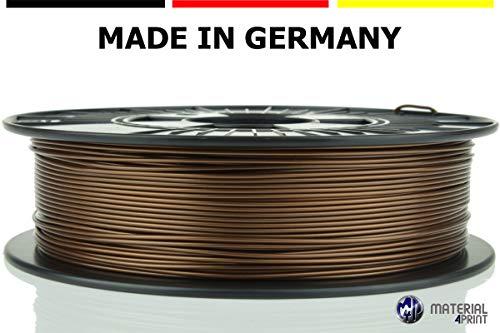 Material 4 Print - PLA 3D Filament Ø 1.75 mm 750 g Rolle - Premium-Qualität für 3D Drucker und 3D Stift (Kupfer) (Kupfer-stift)