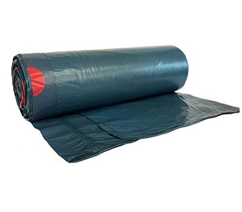 hocz 25 x 120 Liter Müllsack | reißfest ✔ | mit Zugband ✔ | 25er Rolle | Typ 925 | Abfall-Säcke XXL Abfallbeutel Müllsäcke | 40 μ | LDPE | Müllentsorgung Gewerbe Haushalt Müllbeutel